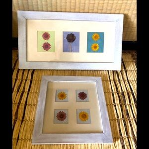 Cottagecore/ Boho Set of 2 dried flower pictures
